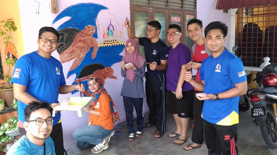 MYCorps Mural Painting in PDK, Gong Badak